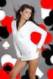 Casino girl Royalty Free Stock Photos