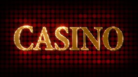 Casino Glittering (HD Loop) stock footage