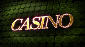 Casino Glitz Sparkle Text Royalty Free Stock Images