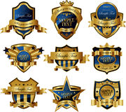 Casino Gold framed labels Stock Photo