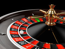 Casino gold roulette close up Royalty Free Stock Image
