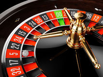 Casino gold roulette close up Royalty Free Stock Photos