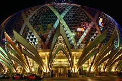 Casino Grand Lisboa in Macau Stock Image