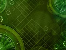 Casino green background. Casino roulette green horizontal background illustration Royalty Free Stock Photos
