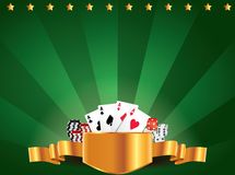 Casino green luxury horizontal background Stock Photography