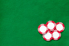 Casino green table background Stock Photography