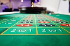 Casino green table numbers. No token Stock Photos