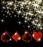 Casino greeting card Royalty Free Stock Photography