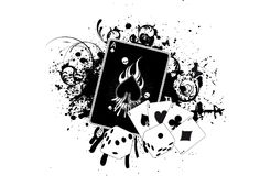Casino Grunge. Grunge Splatter Illustration of Casino Elements Stock Images