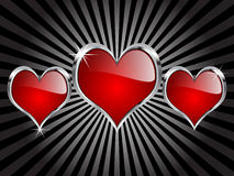 Casino hearts. Casino elements - red hearts illustration Stock Photo