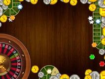 Casino het gokken achtergrondtextuurillustratie Royalty-vrije Stock Fotografie
