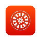 Casino het gokken het digitale rood van het roulettepictogram Stock Afbeelding