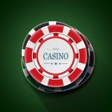 Casino het spelen spaander in stapel Hoogste mening Stock Foto