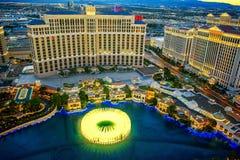 Casino, hotel and resort-Bellagio. Las Vegas. Las Vegas, Nevada, USA - September 17, 2018: Main street of Las Vegas-is the Strip in evening time. Casino, hotel stock photos