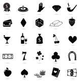 Casino, icônes de risque sur le fond blanc Images libres de droits