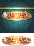 Casino icon and background for design Royalty Free Stock Photo