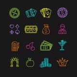 Casino Icon Color Set. Vector Stock Image