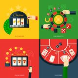 Casino Icon Flat Stock Photos
