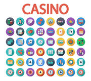 Casino icon. S set. Flat vector related icon set whit long shadow for web and mobile applications. It can be used as - logo, pictogram, icon, infographic element Stock Images