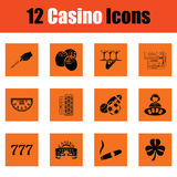 Casino icon set Royalty Free Stock Photography