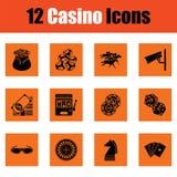 Casino icon set Stock Photos