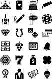 Casino icons Stock Photos
