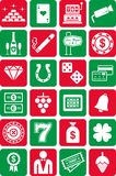 Casino icons Royalty Free Stock Images