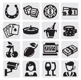 Casino icons Stock Image