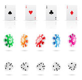 Casino icons Royalty Free Stock Image
