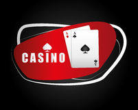 Casino icons design Royalty Free Stock Photography