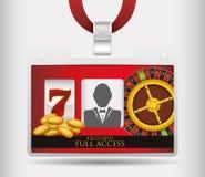 Casino icons design Royalty Free Stock Photo