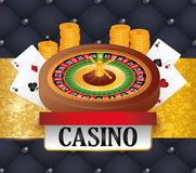 Casino icons design Royalty Free Stock Image