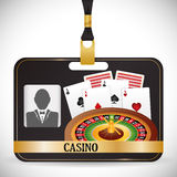 Casino icons design Royalty Free Stock Images
