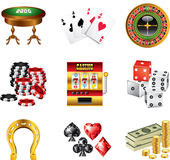 Casino icons detailed Royalty Free Stock Photography