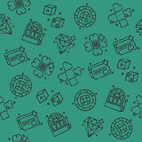Casino icons pattern Stock Image