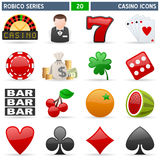 Casino Icons - Robico Series. Collection of 16 colorful casino and gambling icons, isolated on white background. Robico Series: check my portfolio for the vector illustration