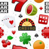 Casino Icons Seamless Pattern Stock Image