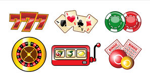 Casino icons set Royalty Free Stock Image