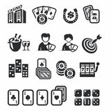 Casino Icons set Stock Photography