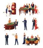 Casino Icons Set Royalty Free Stock Photography