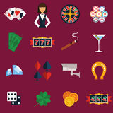 Casino Icons Set Stock Image
