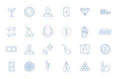 Casino icons set Royalty Free Stock Image