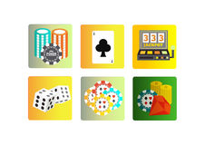 Casino icons set Stock Photos