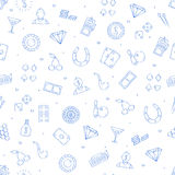 Casino icons set pattern Stock Photography