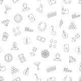 Casino icons set pattern Stock Photography
