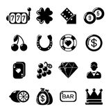 Casino icons set, simple style. Casino icons set. Simple illustration of 16 casino vector icons for web vector illustration