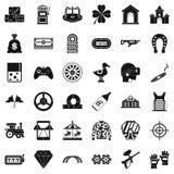 Casino icons set, simple style. Casino icons set. Simple style of 36 casino vector icons for web isolated on white background stock illustration