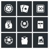 Casino icons. Vector Illustration. Royalty Free Stock Photography