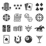 Casino icons. Vector illustrations. Stock Photos