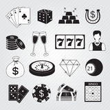 Casino Icons Vector Set Stock Images